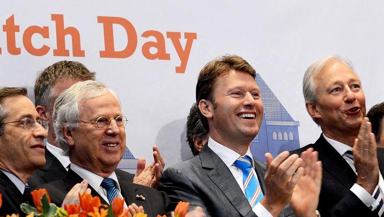 Emiel Roozen (tweede rechts). Beeld anp