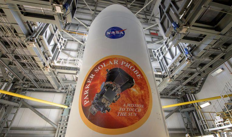 De raket die Parker naar de ruimte bracht.