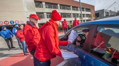 Werknemers Colruyt staken mee aan distributiecentrum