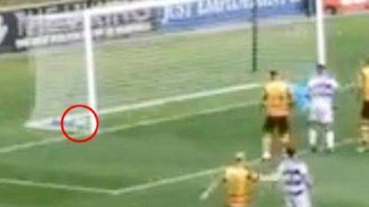 """Een """"raadsel"""" in Schotland: bal vliegt in doel tégen de netten, maar zou toch niet over lijn zijn geweest"""