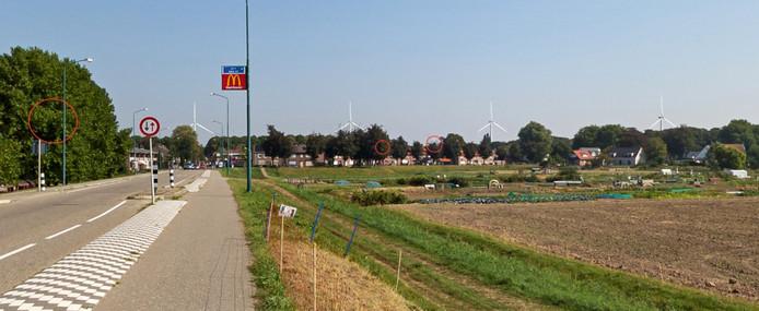 Klundert met aan de horizon de molens te zien op de website