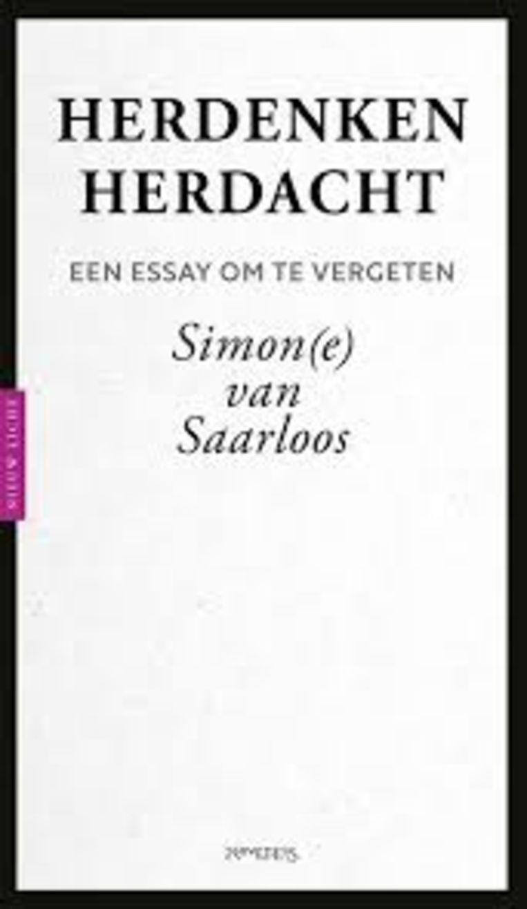 Simon(e) van Saarloos: Herdenken herdacht. Prometheus; € 12,99.  Beeld Prometheus