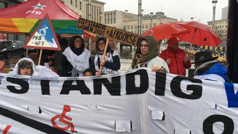 Een beeld van de betoging in Brussel