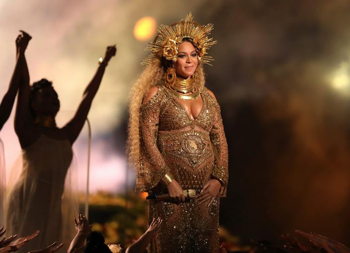 Beyoncé in februari.