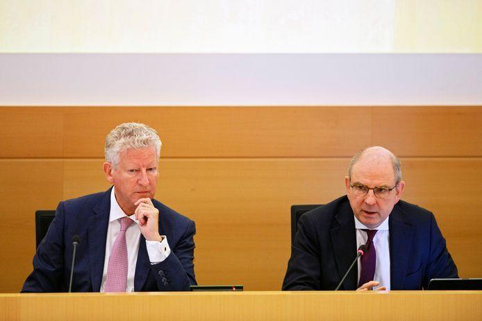 Federale ministers Pieter De Crem and Koen Geens.