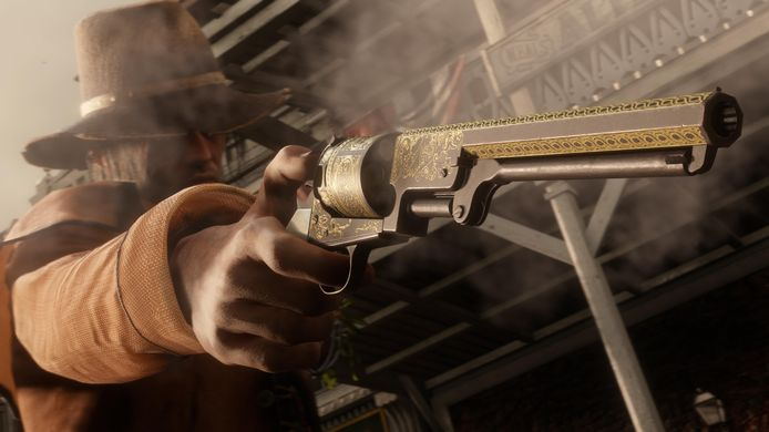 Beeld uit 'Red Dead Online'.