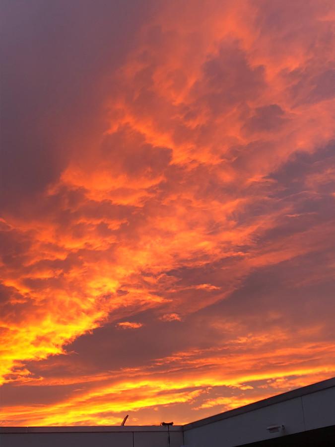 Zonsondergang in Hoge Enk.