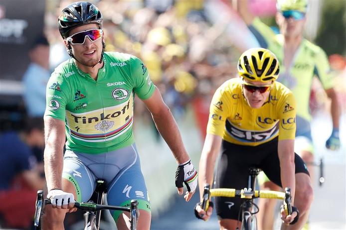Peter Sagan bleef tijdens de elfde etappe Chris Froome net voor.