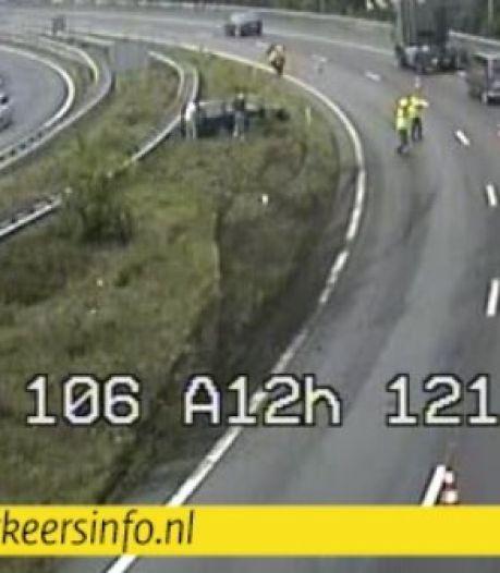 'Glijpartij' in bocht A12 bezorgt verkeer grote vertraging bij Arnhem