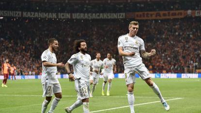 LIVE. Real met voorsprong de rust in, assist voor Hazard en ook ijzersterke Courtois vervult hoofdrol