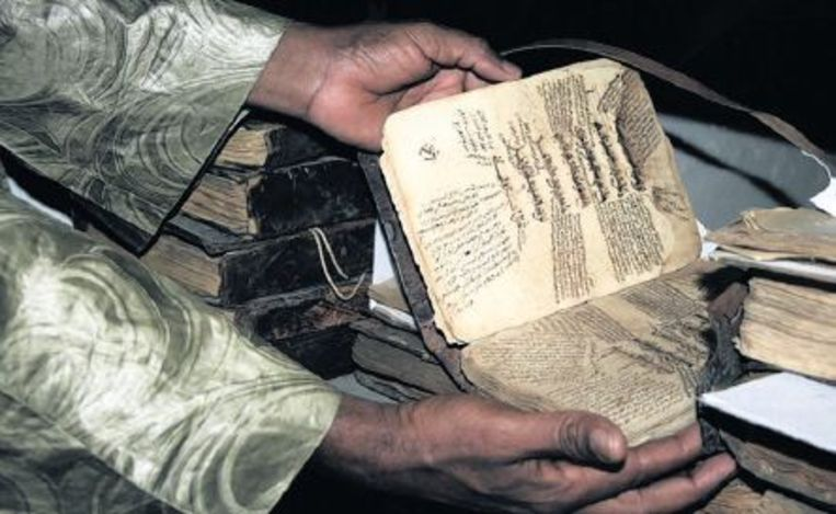 Een gerestaureerd manuscript. Beeld Candace Feit /The New York Times