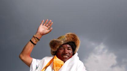 Sherpa breekt met 24ste beklimming van Mount Everest opnieuw record