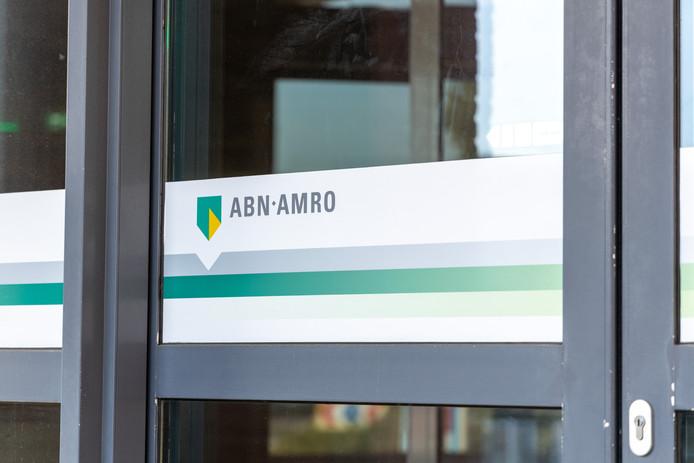 Een gesloten deur bij ABN AMRO.