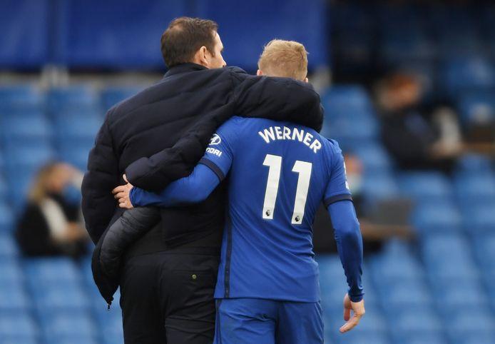 Chelsea-trainer Frank Lampard met aankoop Timo Werner.