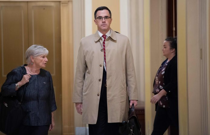 Timothy Morrison, een Oekraïne-specialist in het Witte Huis tijdens een eerder verhoor van het Congres in Washington, op 31 oktober 2019.