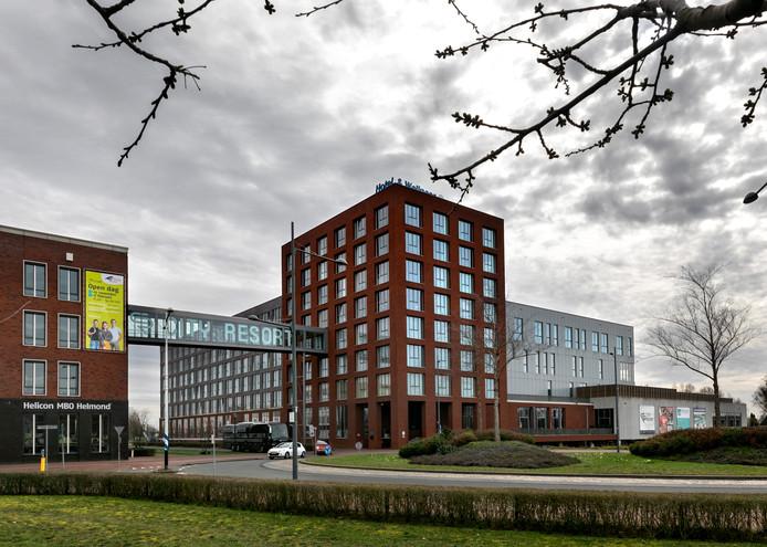 Het hotelcomplex op Suytkade.