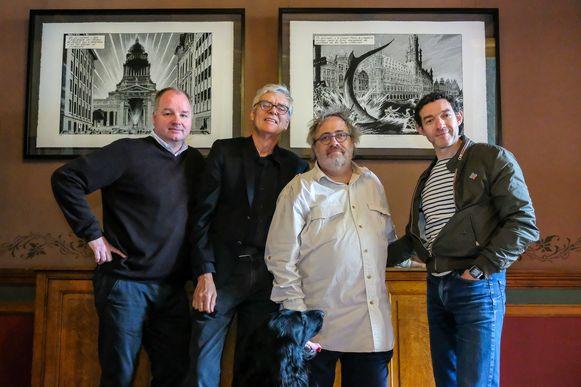 Laurent Durieux (colorist), François Schuiten (striptekenaar), Jaco Van Dormael (cineast) en Thomas Gunzig (schrijver)