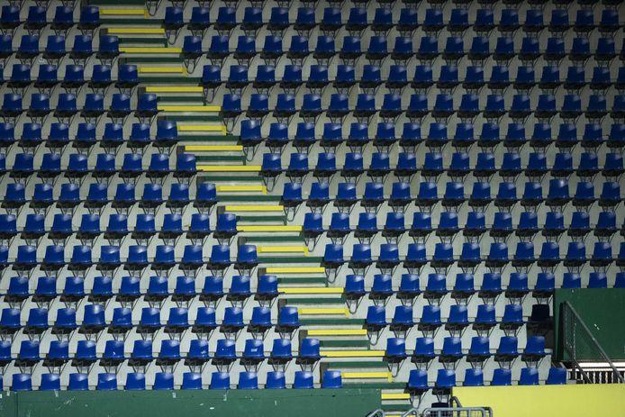 Een leeg vak in het Fortuna Sittard Stadion.