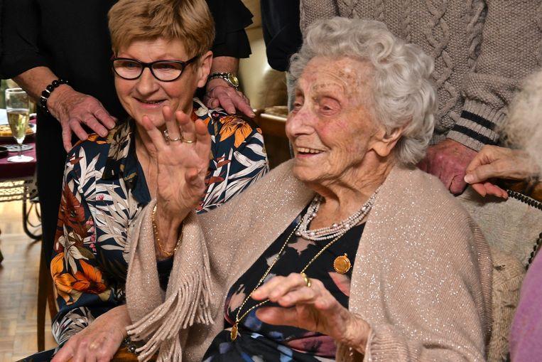 Camilla Vanwaeyenberge vierde op 29 december haar 103de verjaardag