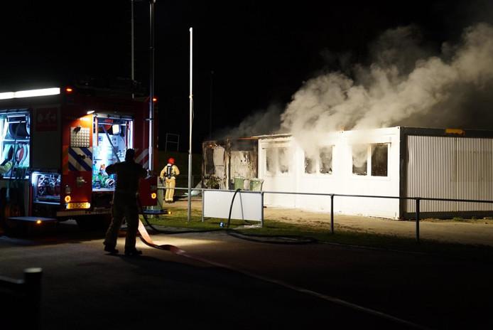 Brand bij FietsCrossVereniging Veldhoven: de kantine heeft veel rook- en waterschade opgelopen.