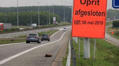 Op- en afrit Vrasene op E34 richting Antwerpen vanaf maandag twee weken afgesloten
