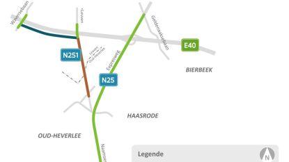 Vernieuwing fietspaden en rijweg van Naamsesteenweg in Meerdaalwoud