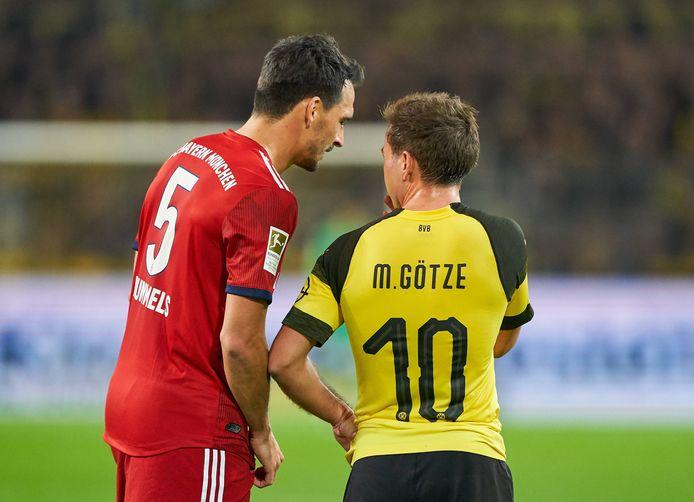 Mats Hummels en Mario Götze in 2019.