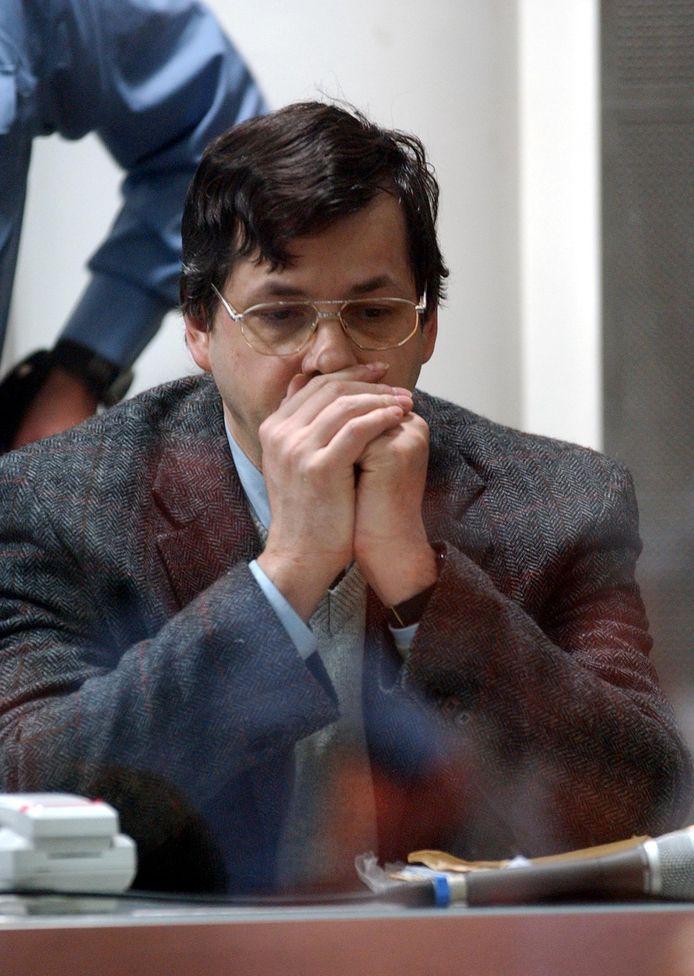 Dutroux tijdens een zitting in 2004.