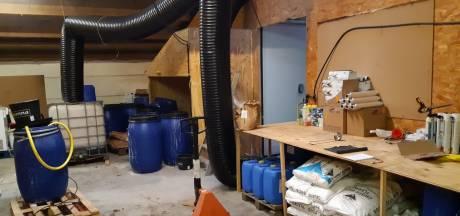 Drugslab gevonden in grote loods in Brabant, vier betrokkenen aangehouden