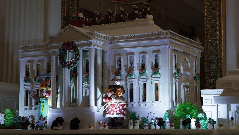 michelle obama heeft het witte huis voor de laatste keer aangekleed voor kerst en het is. Black Bedroom Furniture Sets. Home Design Ideas