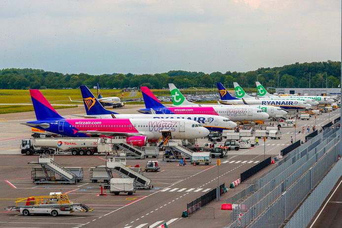 Het platform van Eindhoven Airport.