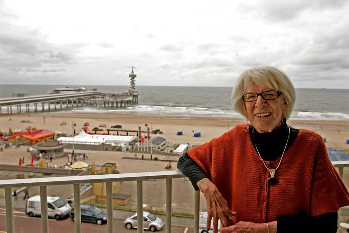 Miep Diekmann was verknocht aan het uitzicht van haar Scheveningse appartement.