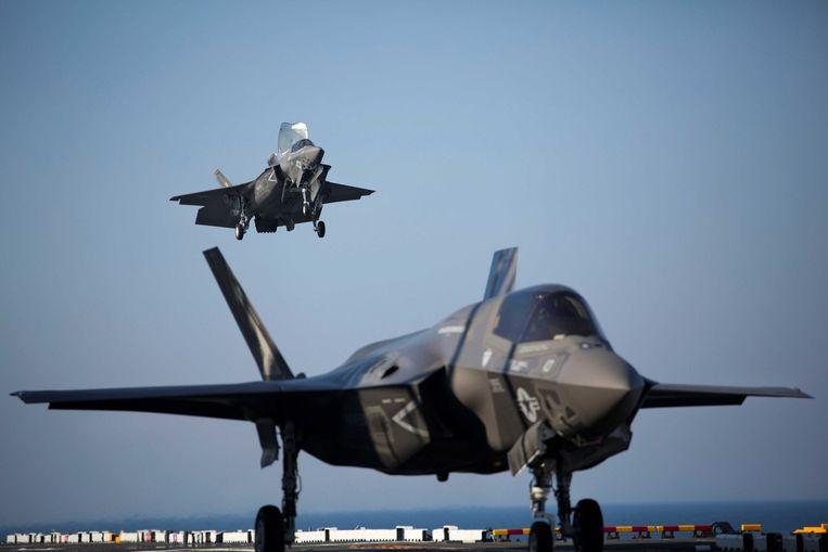 Twee F-35B Lightning II Joint Strike Fighters Beeld afp