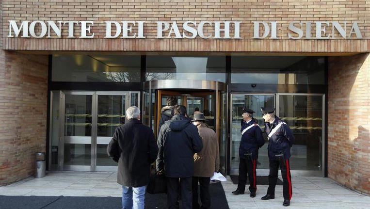 De noodlijdende Italiaanse bank Monte dei Paschi di Siena Beeld reuters