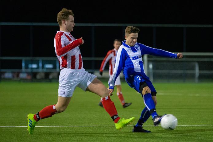 Blauw Wit tegen Beuningse Boys in de bekerwedstrijd van donderdag.
