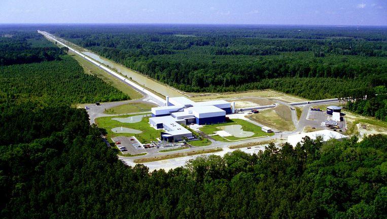 De LIGO-detector in Livingston, Louisiana. Beeld