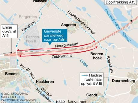 Lingewaard wil parallelweg langs nieuwe A15 als extra ontsluiting