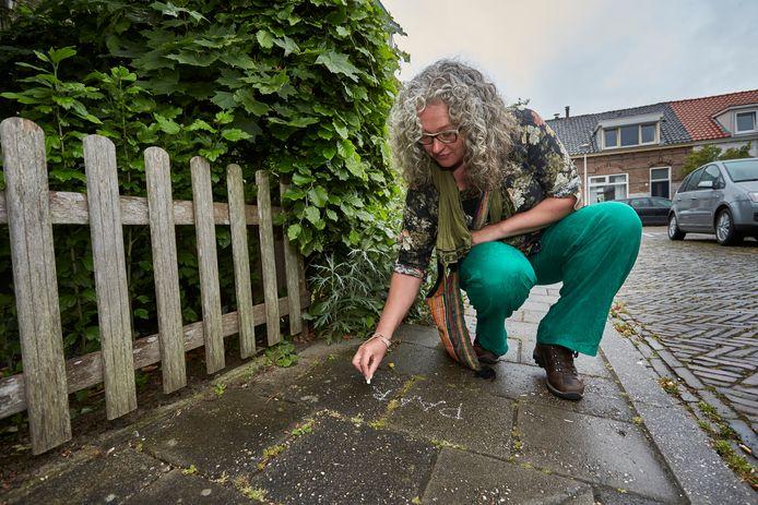 Geen natuur in de straat? Welnee! Annemieke Spijker helpt buurtbewoners in Zutphen door op de stoep de naam van planten die ze aantreft te krijten. De 'speelse plantenles' slaat aan; ,,Leuk dat mensen zo iets leren over de natuur in hun eigen omgeving.''