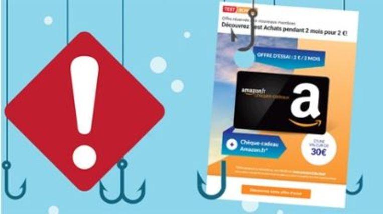 Consumentenorganisatie Test Aankoop is het slachtoffer geworden van phishing.