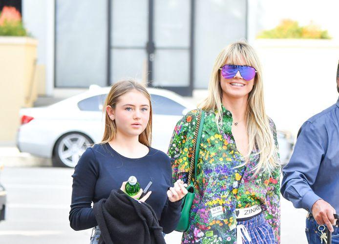 Heidi Klum met dochter Leni