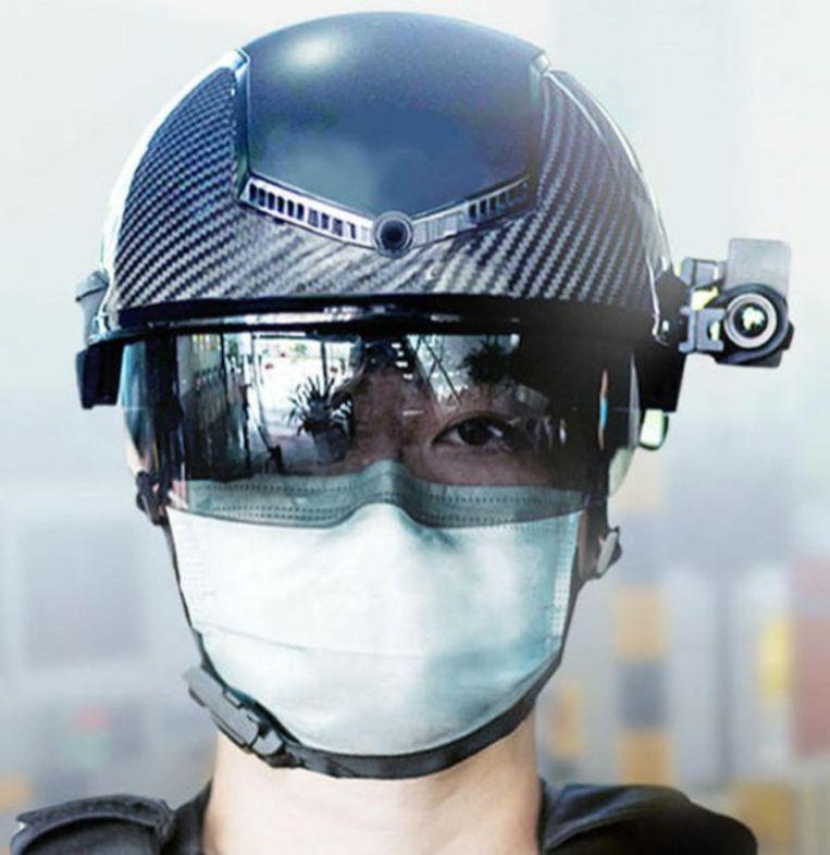 Een helm met augmented reality. Beeld rv