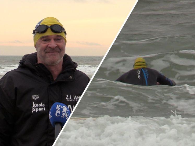 Hartpatiënt Marcel duikt elke dag even de zee in