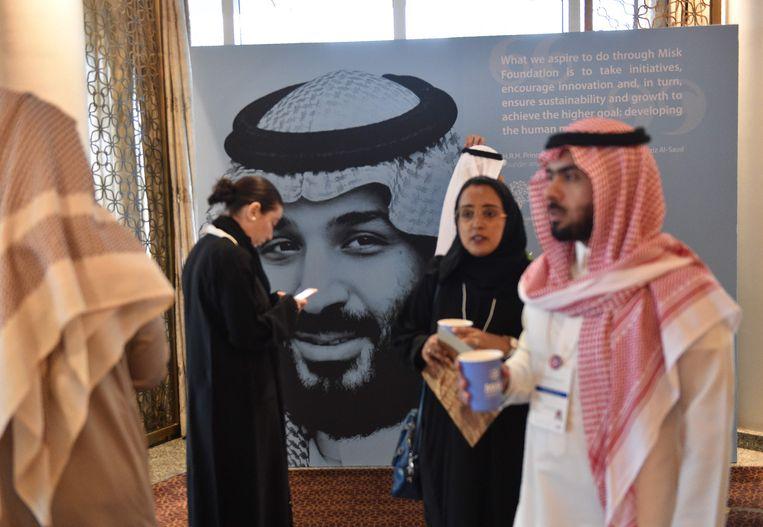 Volgens Turkije en Amerikaanse inlichtingendiensten is de Saoedische kroonprins Mohammed bin Salman de kwade genius achter de moord op Khashoggi. Beeld AFP