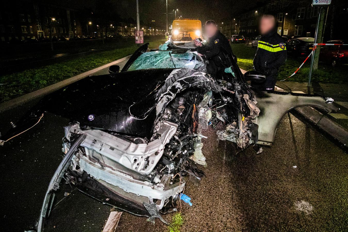 Ongeluk in Arnhem waarbij FC Eindhoven-talent Youri Roseboom gewond raakte.