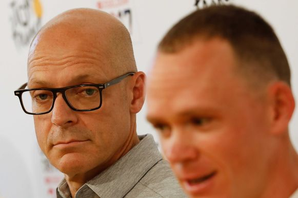 Dave Brailsford en Chris Froome.