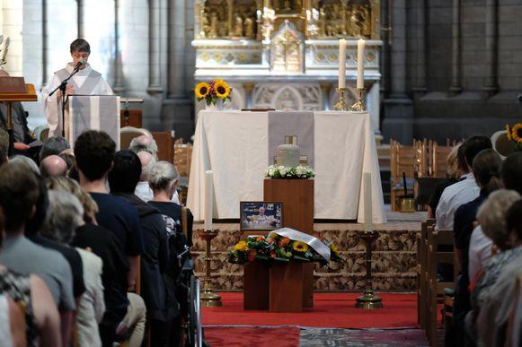 De begrafenis Jean-Pierre Sneyers.