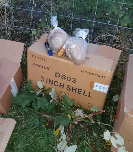 20 kilo illegaal vuurwerk gevonden op grasveldje in Serooskerke