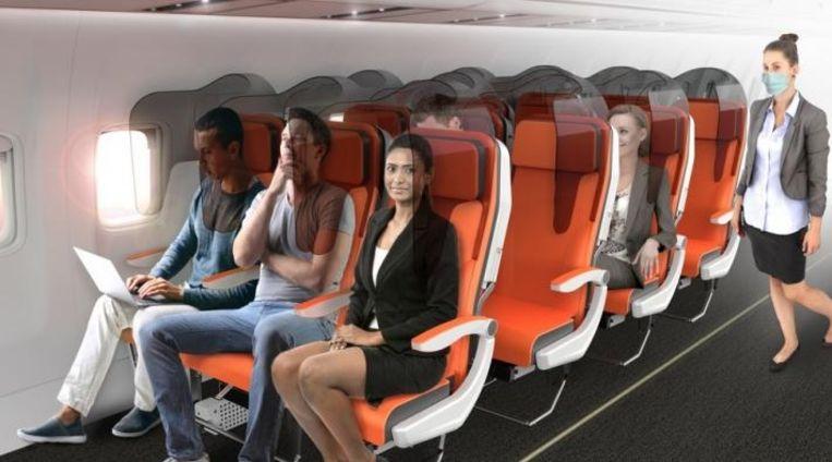 De 'Glass Safe methode' - kan meteen op bestaande vliegtuigstoelen toegepast worden.