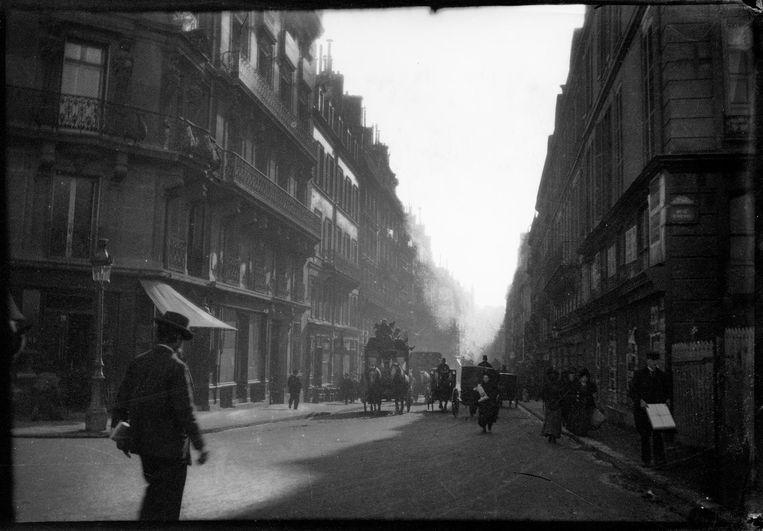 George Hendrik Breitner, Straat met koets te Parijs, ca. 1900. Beeld