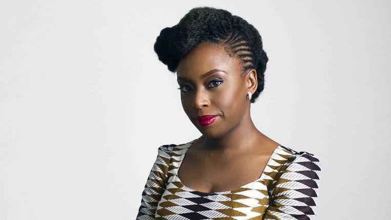 Chimamanda Ngozi Adichie: 'I think men are lovely, but I don't think that women should relate everything they do to men' Beeld Lakin Ogunbanwo